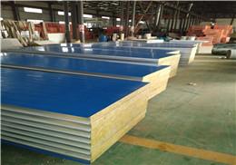 【生产厂家】净化板应彩钢板岩棉夹芯板大型厂房生产车间泡沫夹芯板可定制